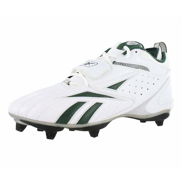 a06de5bd29b6 Reebok Mens Pro Full Blitz strap D3 Fabric Low Top Lace Up Soccer Sneaker -  White
