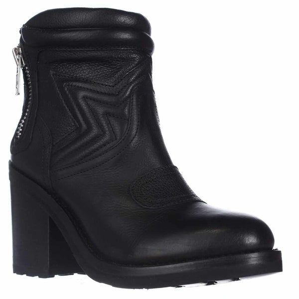 Ash Uno Ankle Boots, Black Leather - 9 us / 39 eu