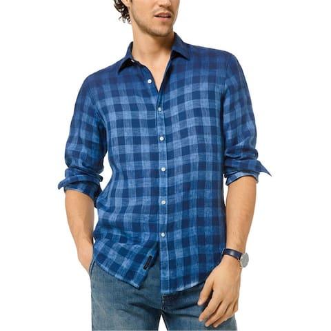 Michael Kors Mens Ombre Button Up Shirt