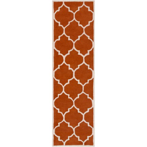 """Hand-Tufted Rugby Moroccan Trellis Rug - 2'3"""" x 14' Runner"""