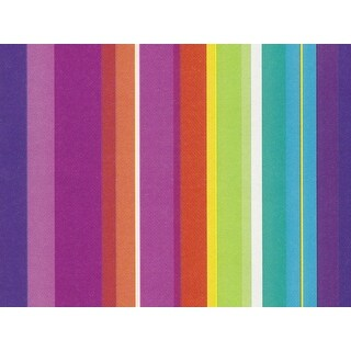 Pack Of 1, Kaleidoscope Stripes 24 X 85' Roll Birthday Gift Wrap For 40-50 Gifts Made In Usa
