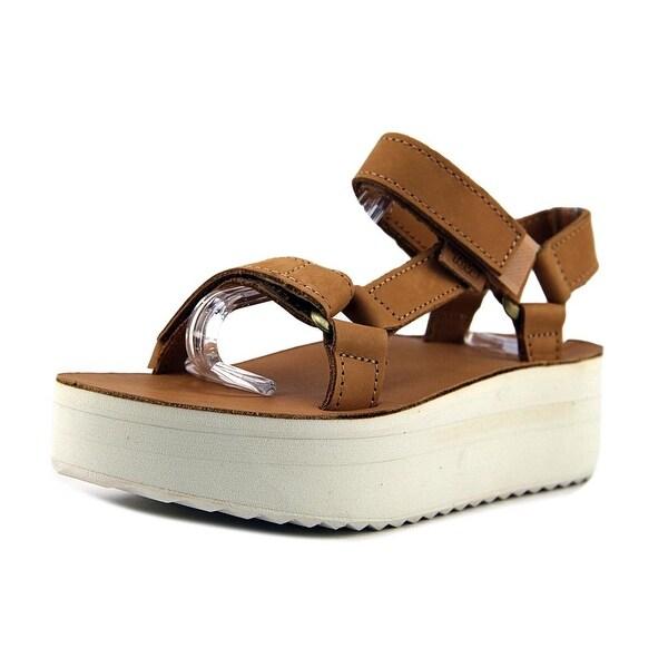 d144c36f830d Shop Teva Flatform Universal Women Open-Toe Leather Tan Sport Sandal ...