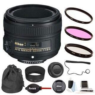 Nikon AF-S Nikkor 50mm f/1.8G Lens w/ 58mm Filter 3-Pack & Accessory Kit