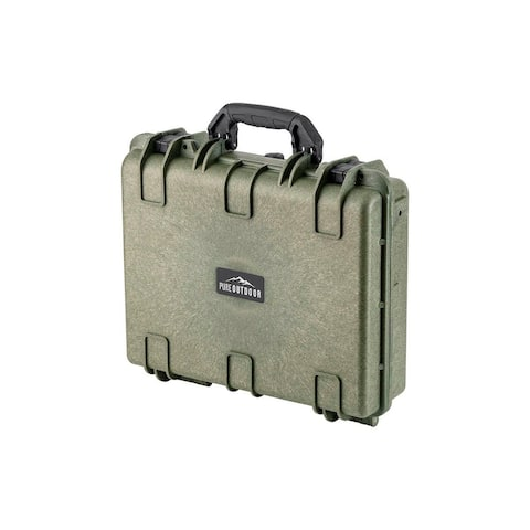 Monoprice Weatherproof Hard Case - 19in x 16in x 6in, OD Green with Customizable Foam, Shockproof, IP67