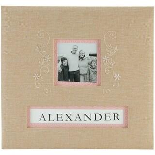 "K&Company Frame-A-Name Post Bound Album 12""X12""-Burlap"