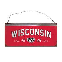 University of Wisconsin Small Tin Sign