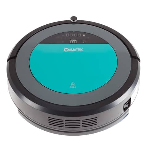 Robotic Vacuum Cleaner and Mop - Amatrix V600 Dual Vacuuming and Mopping Cleaning Robot with Remote, Self Charging