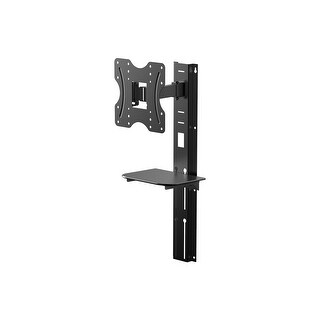 Monoprice Full Motion Wall Mount Bracket with height adjustment Support Shelf for Small 24- 42in TVs up to 66 lbs