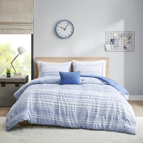 Bryce Striped Comforter Set by Intelligent Design