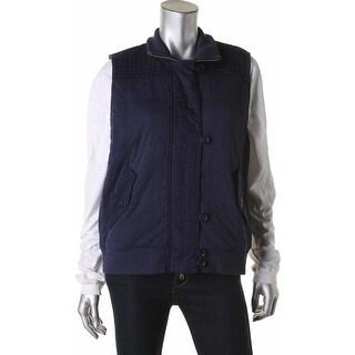 Lauren Ralph Lauren Womens Vest Quilted Ribbed Trim (2 options available)