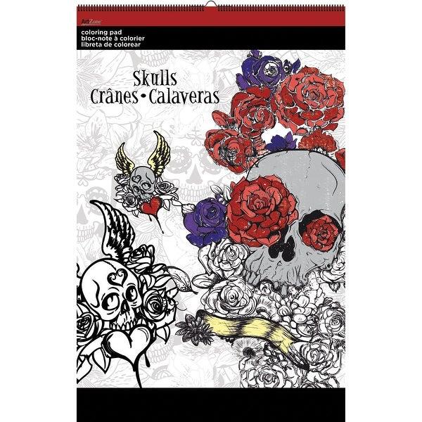 """Trends Coloring Pad 11""""X17""""-Skulls"""
