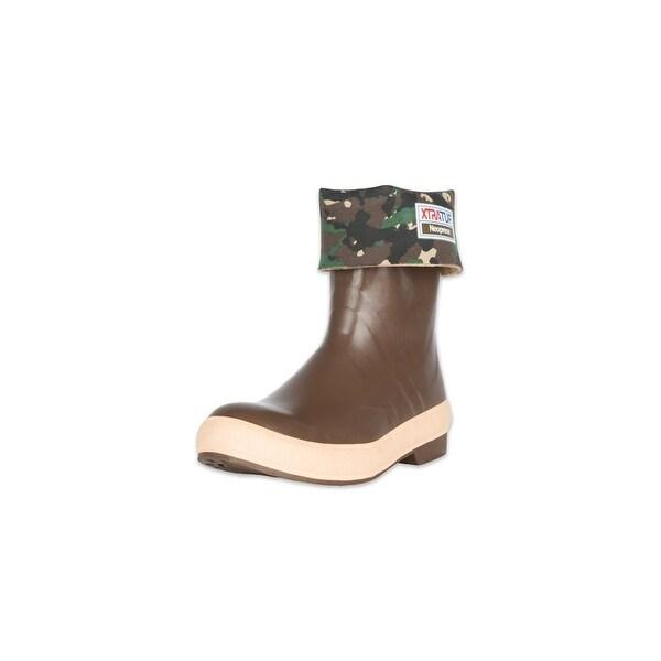 """Xtratuf Legacy Men's 15"""" Plain Toe Fishing Camo Boots w/ Chevron Outsole-Size 10"""