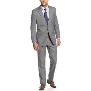 Tommy Hilfiger Tomson Suit 44 Regular 44R Gray Striped Trim Fit Pants 38W