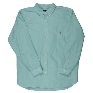 Polo Ralph Lauren Mens Big & Tall Oxford Cotton Button-Down Shirt - 3xb