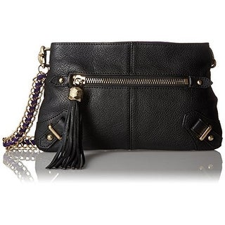 Dolce Vita Womens Leather Contrast Suede Crossbody Handbag - Medium