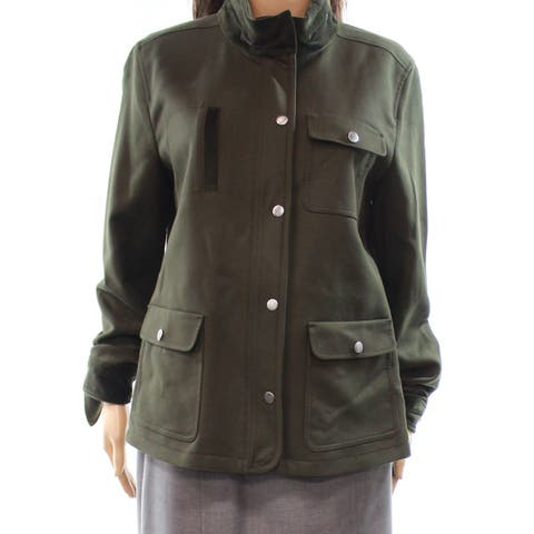 Nordstrom Olive Sarma Women's Medium Full-Zip Jacket