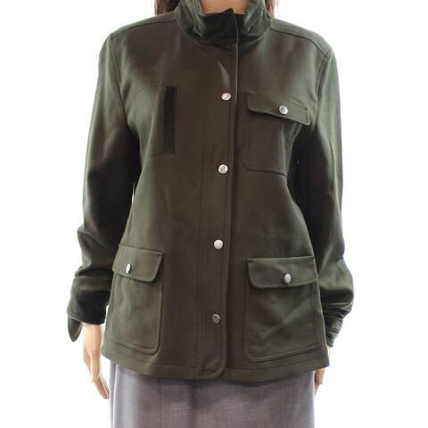 Nordstrom Women's Button-Zip Closure Mock Jacket