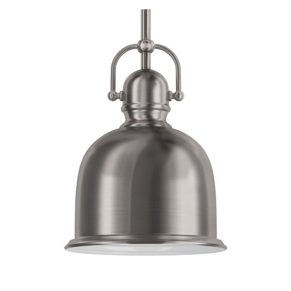 """Park Harbor PHPL5431 1-Light 8"""" Wide Mini Pendant with Industrial Style Shade"""