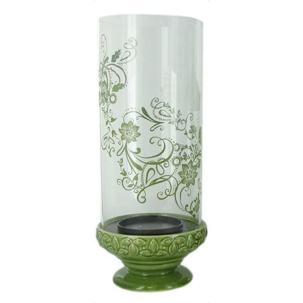 Reversible Ceramic/Glass Hurricane Candle Holder