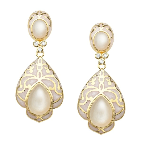 Cristina Sabatini Angel Moonstone Baroque Earrings in Gold-Plated Sterling Silver