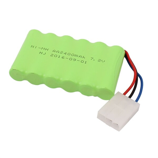 DC 7.2V 2400mAh Rechargable Ni-MH AA Battery Pack for RC Airplane w 3P Plug