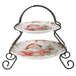Link to Certified International Christmas Story 2 Tier Server Set Similar Items in Christmas Entertaining