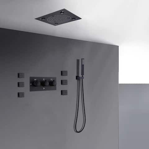 LED Ceiling Concealed Shower Mixer Systerm