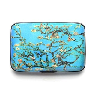Women's Fine Art Identity Protection RFID Wallet - Almond Tree - Medium