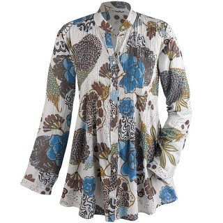 Women's Tunic Top - Pintuck Perfection Shirt