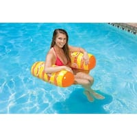 "51"" Orange, Yellow and White Inflatable Vinyl Water Chair Swimming Pool Float - Orange"