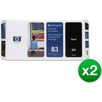 HP 83 Black DesignJet UV Printhead & Printhead Cleaner (C4960A) (2-Pack)