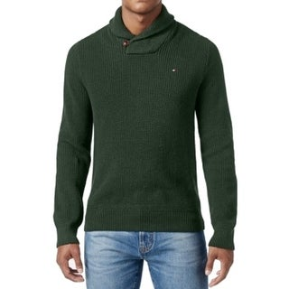 Tommy Hilfiger NEW Mountain Green Mens Size 3XL Shawl-Collar Sweater