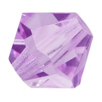 Preciosa Czech Crystal 4mm Bicone Beads 'Violet' (50)