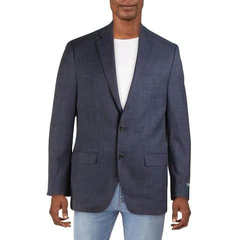 Lauren Ralph Lauren Mens Lexington Two-Button Blazer Woven Plaid - Blue