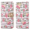 Insten Pink/ White Fresh Roses Leather Case Cover with Stand/ Wallet Flap Pouch/ Diamond For Apple iPhone 7 Plus - Thumbnail 2