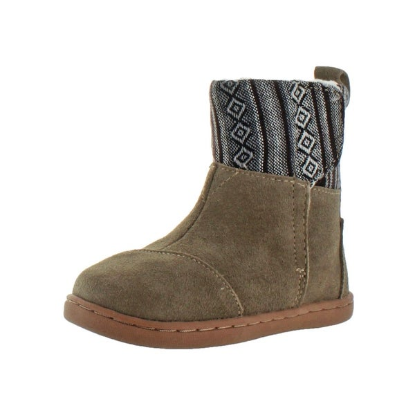5b84c6b909e Shop Toms Girls Nepal Boot Winter Boots Suede Pattern - Free ...