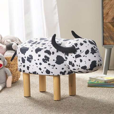 Ferrron Contemporary Kids Cow Ottoman by Christopher Knight Home