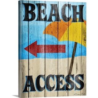 """""""Beach Access"""" Canvas Wall Art"""