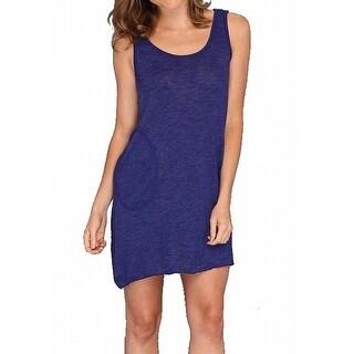 Allen Allen NEW Blue Women's Size Large L Pocketed Tank Dress