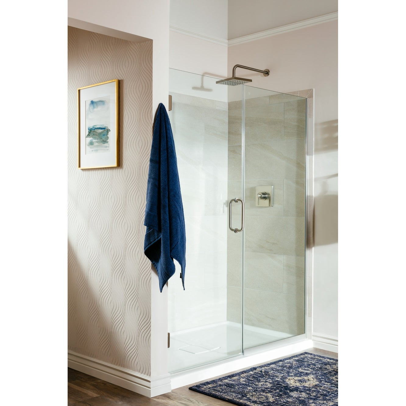 Miseno Msdf5972 Swing 72in High X 59in Wide Hinged Frameless Shower Door With Clear Glass N A