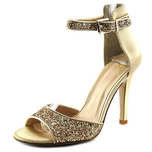 Phoebe Hellena Open-Toe Canvas Slingback Heel