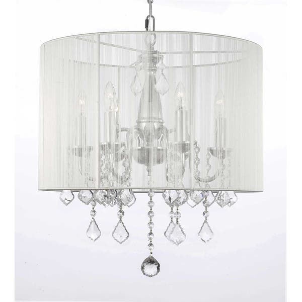 Shop Plug in Chandelier with Shade & 14' Feet of Hanging Chain & Wire -  Overstock - 28991945Overstock.com