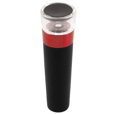 "Wine Liquor Preserver Vacuum Sealed Air Pump Bottle Stopper - Black,Red,Clear - 3.3"" x 1""(L*D)"