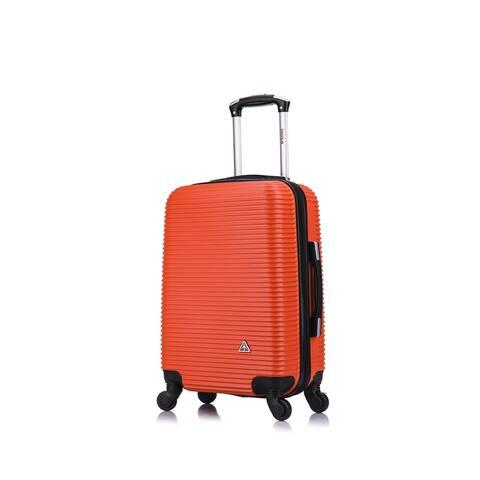 InUSA Royal lightweight hardside spinner 20 inch carry-on Orange
