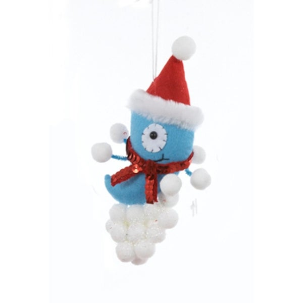 "9"" Ugly Cuties ""Stan"" the Blue Alien Plush Animal Christmas Ornament"