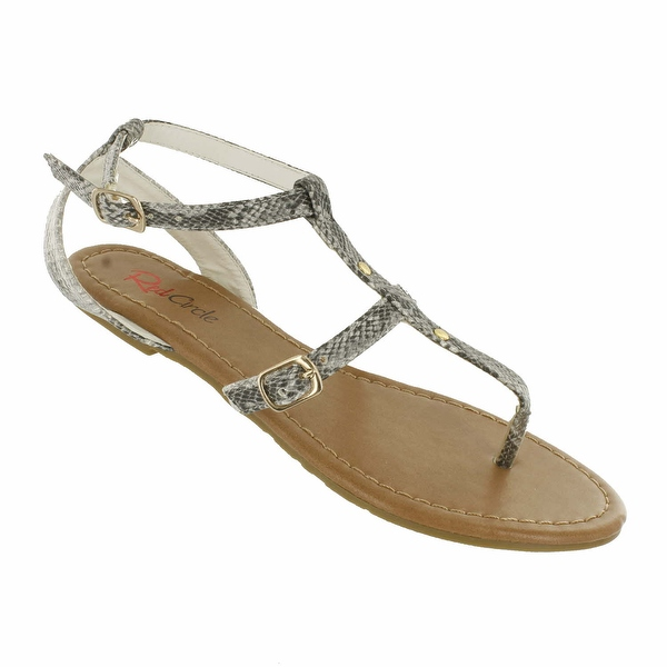 Red Circle Footwear 'Kaye' Gladiator Sandals