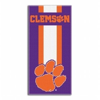 1COL-72000-0033-RET NCAA Clemson Zone Read Beach Towel, 60 x 30