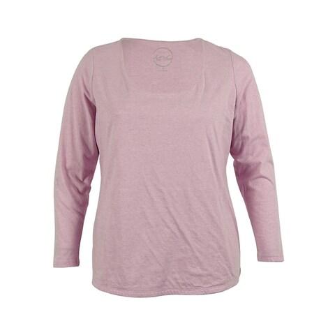 INC International Concepts Women's Long Sleeve Top - lily lavander