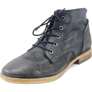 Diba Eli Round Toe Leather Ankle Boot