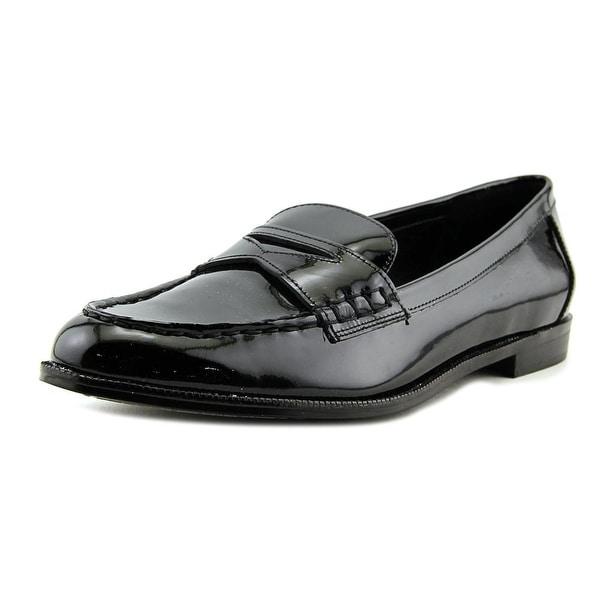 a76cbcddd61 Lauren Ralph Lauren Barrett Women Round Toe Patent Leather Black Loafer